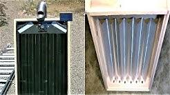 "DIY Solar Air Heater! - The Steel Slat ""Drip-Edge"" Solar Heater! - New Design! 160F 74C in January!"