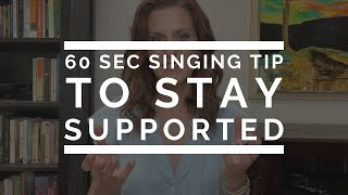 60 Second Singing Tip: To Stay Supported | Arden Kaywin Vocal Studio