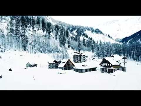 Full of Snow in Solang Valley,Manali.View from Island Hotel Amazing,Manali,Himachal Pradesh,India