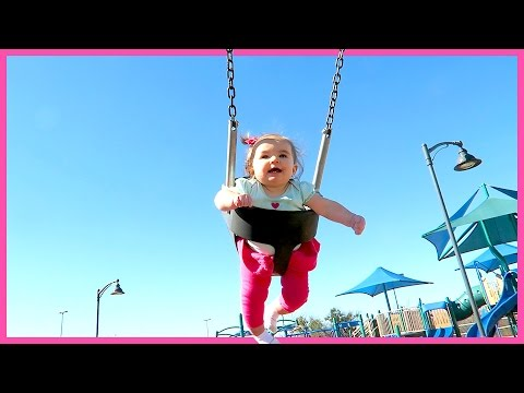 THIS BABY'S FIRST TIME ON A SWING WILL MAKE YOU SMILE REALLY BIG!!
