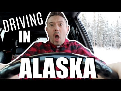 DRIVING IN ALASKA | WINTER DRIVING | Somers In Alaska Vlogs