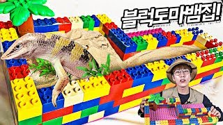 블럭으로 도마뱀집 만들기!