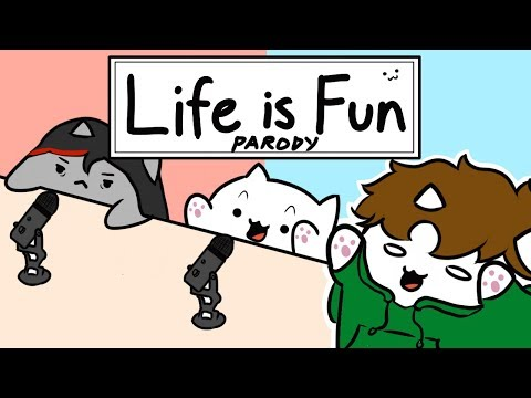 Bongo Cat - 'Life is Fun' - Ft. TheOdd1sOut & Boyinaband (Official Music Video PARODY)