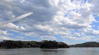 日本三景松島観光復興記念行事の展示は 10課目+ダブルライン。 かなり雲...