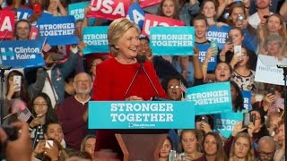 Hillary addresses voters before Election Day