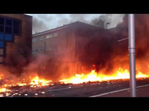 Imagenes del accidente de un helicoptero en Londres