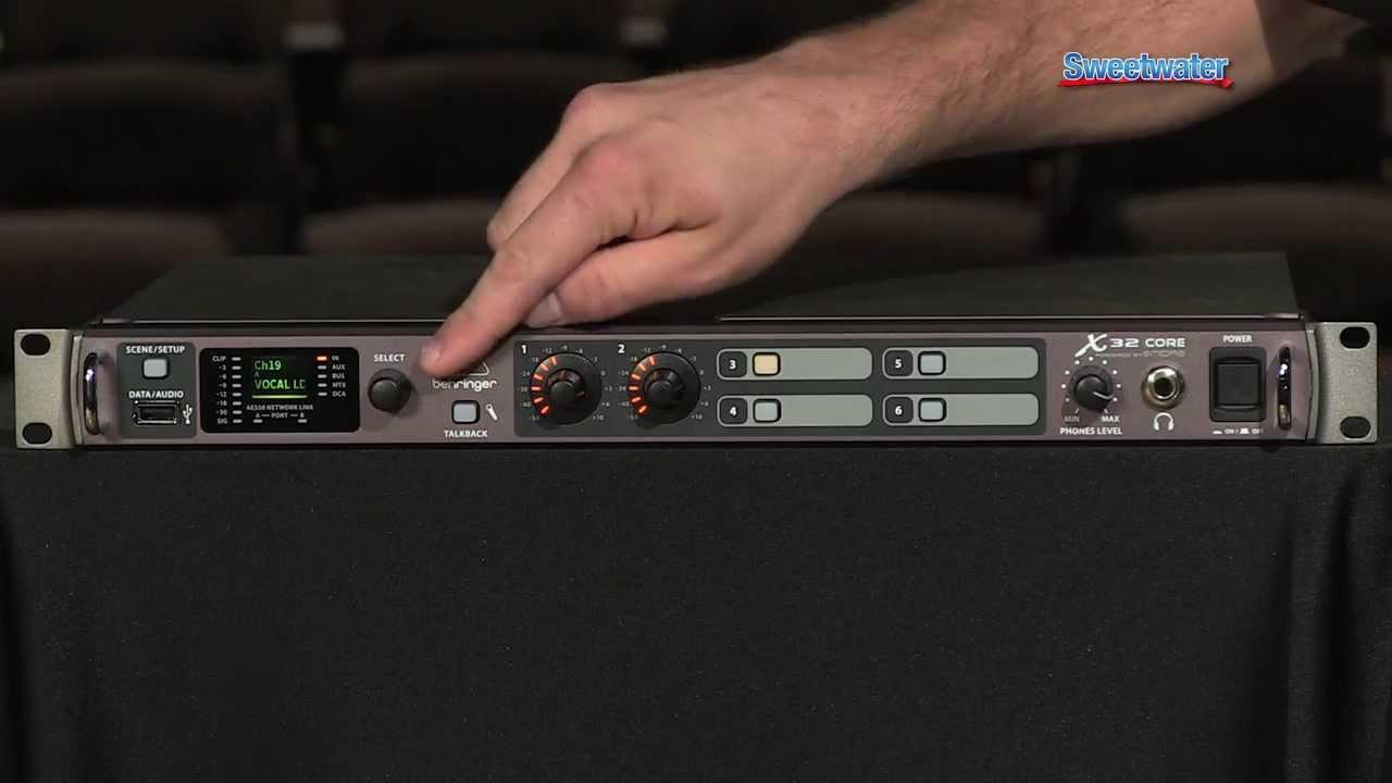 Behringer X32 Core Digital Mixer  Processor Demo