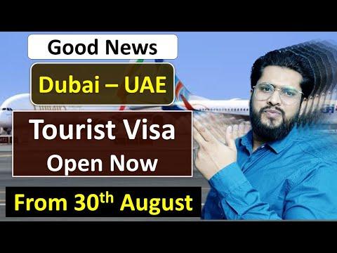 UAE Visit Visa Open Now From 30 August - Dubai Flights Update Today.