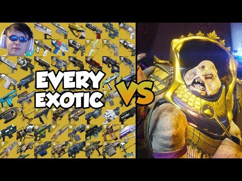 EVERY EXOTIC VS CALUS!! [All 61 Exotic Weapons In Destiny 2]
