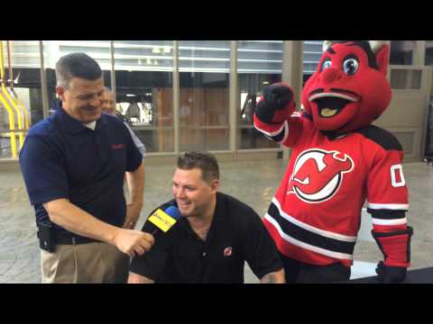 huge selection of 15e74 1af2e NJ Devils' Colin White has some fun talking hockey with ...
