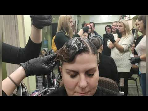 Причёска для бальных танцев волна
