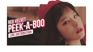 Red Velvet - Peek-A-Boo Line Distribution (Color Coded) | 레드벨벳 - 피카부