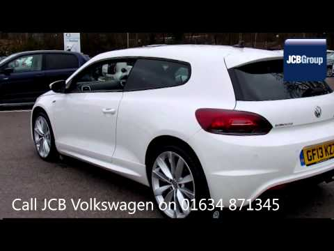 2013 Volkswagen Scirocco R LINE TDI DSG BLUEMOTION 2l White GF13KZZ for sale at JCB VW Medway
