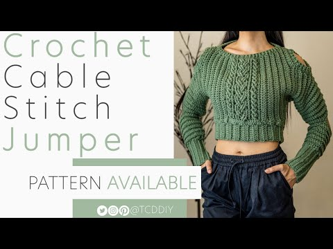 Crochet Cable Stitch Jumper | Pattern & Tutorial DIY