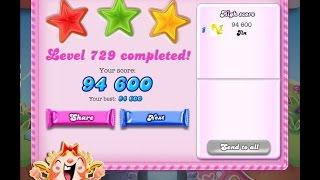 Candy Crush Saga Level 729   ★★★   NO BOOSTER
