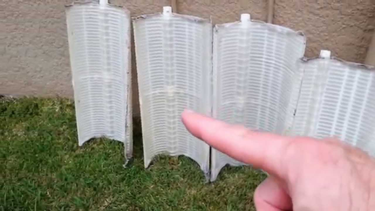 how to clean  fix  repair or change de filter grids