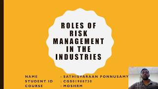 Risk Management Assignment Part 1