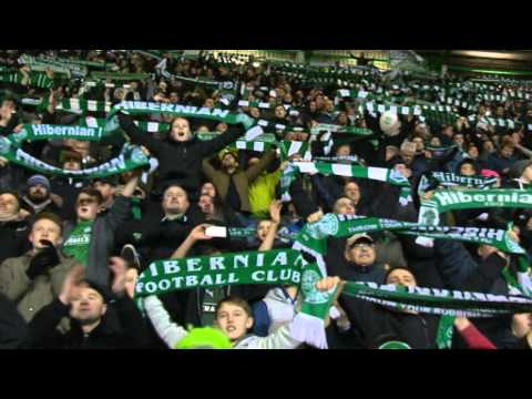 """Hibernian celebrate great derby win with """"Sunshine on Leith"""""""