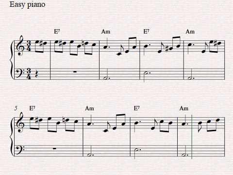 Free easy piano sheet music - Fur Elise