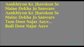 KARAOKE:~Aankhiyon Ke Jharokon Se