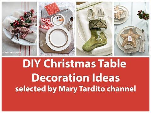 DIY Christmas Table Decorations Ideas