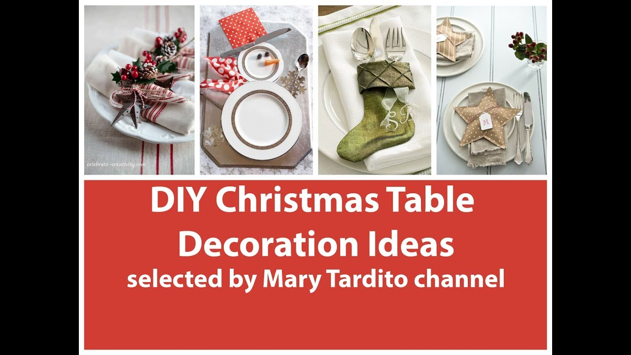 Diy Christmas Table Decorations Ideas Youtube