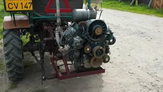 Szász János saját készítésű traktora