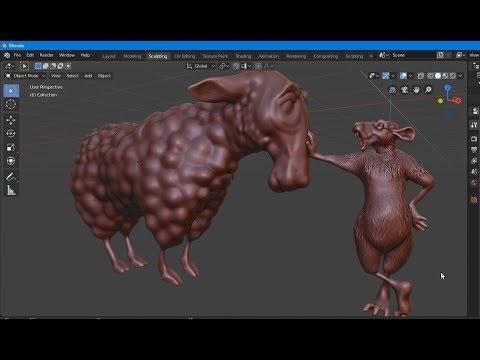 BLENDER 2.8 обзор программы и скульптинг