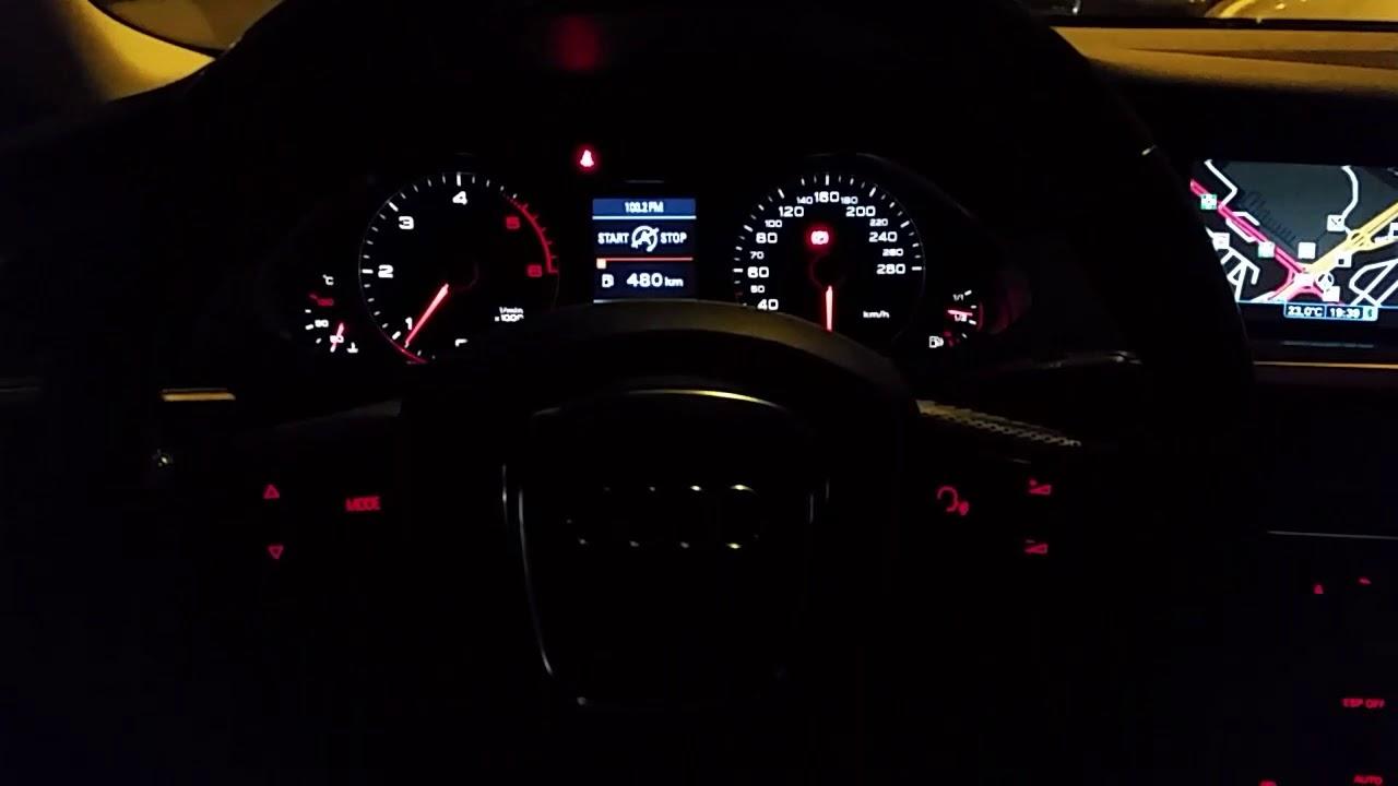 Audi A4 B8 Interior Night Youtube