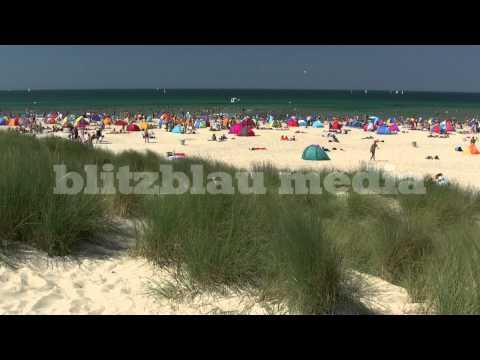 Stock Footage Europe Germany Baltic Sea Beach Warnemünde Rostock Mecklenburg Ostsee Travel Playa
