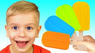 Color Song with Ice Cream Fruit   Nursery Rhymes with Dima Family Show