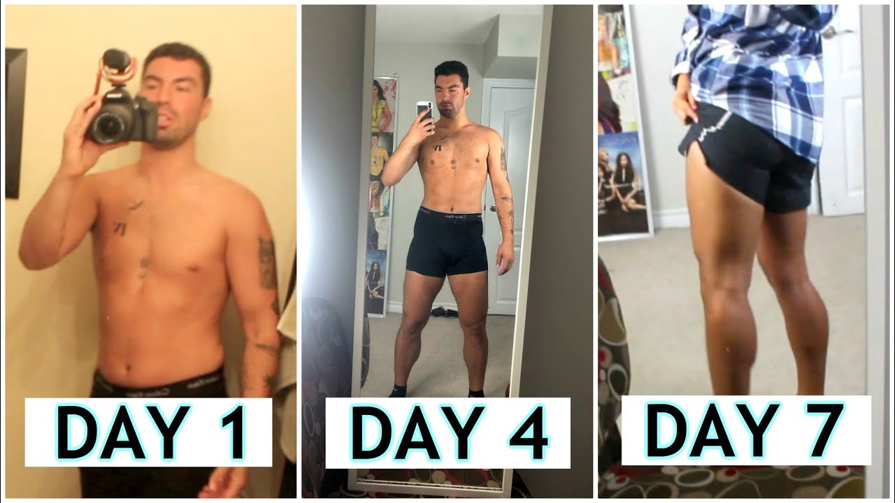 1 month steroid transformation