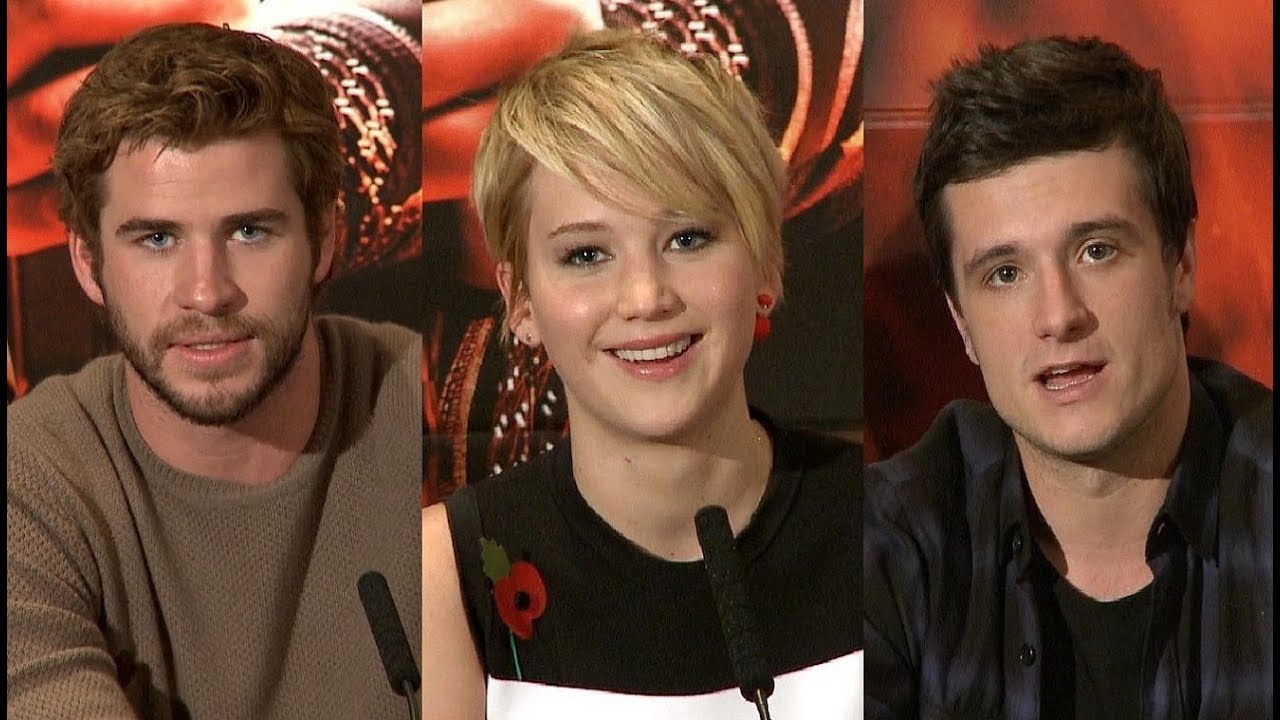 jennifer lawrence and josh hutcherson catching fire premiere