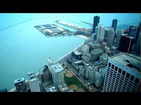 View from John Hancock Tower in Chicago, USA