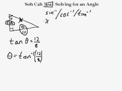 Soh Cah Toa 5 Solving For An Angle