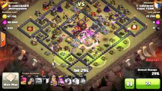 Clash Of Clans 3 Star 6 Golem 4 Jump TH10