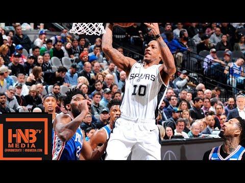Philadelphia Sixers vs San Antonio Spurs Full Game Highlights | 12.17.2018, NBA Season