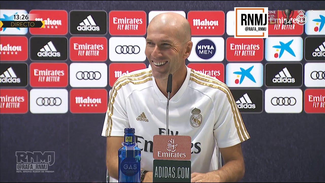 Rueda de prensa de ZIDANE previa Leganés - Real Madrid (18/07/2020)