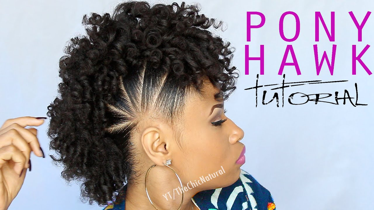 pony hawk natural hairstyle