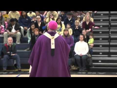 Archbishop Listecki says Ash Wednesday Mass at Pius XI High School