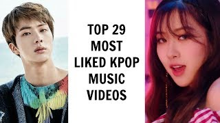 top 29 most liked kpop music videos on youtube   june 2 2017