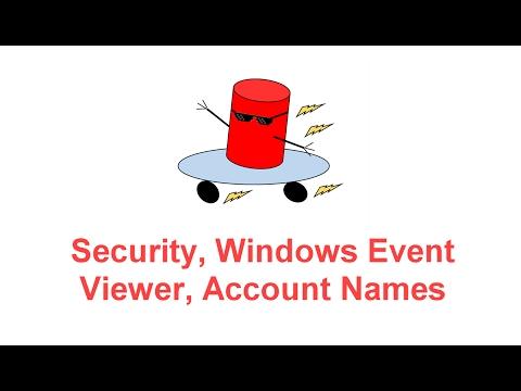 SQL Server Logs, Windows Event Viewer, Account Names, Security -- SQL Server BOSS