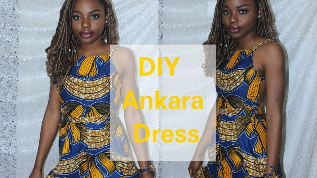 D.I.Y Short Backless Ankara Dress