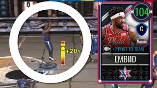 104 TRADE-UP JOEL EMBIID GAMEPLAY IN NBA LIVE MOBILE 20!!!