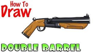 How to Draw the Double Barrel Shotgun | Fortnite