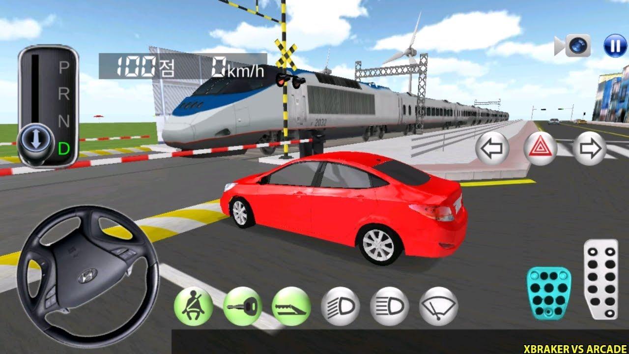 Korean Car Driving Simulator #6 Hyundai - Driver's License Examination - Best Android Gameplay