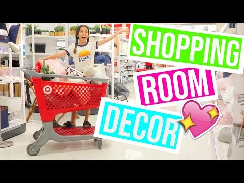 SHOPPING for my new ROOM DECOR at TARGET