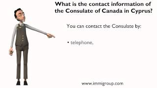What is the contact information of the Consulate of Canada in Cyprus?