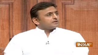 Akhilesh Yadav In Aap Ki Adalat (Part 1) - India TV