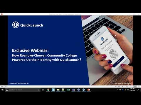 How Roanoke Chowan Community College Powered Up Their Identity with QuickLaunch